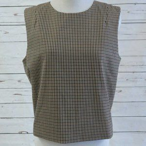 Theory Crop Top Focha Intrigued Brown Size Medium